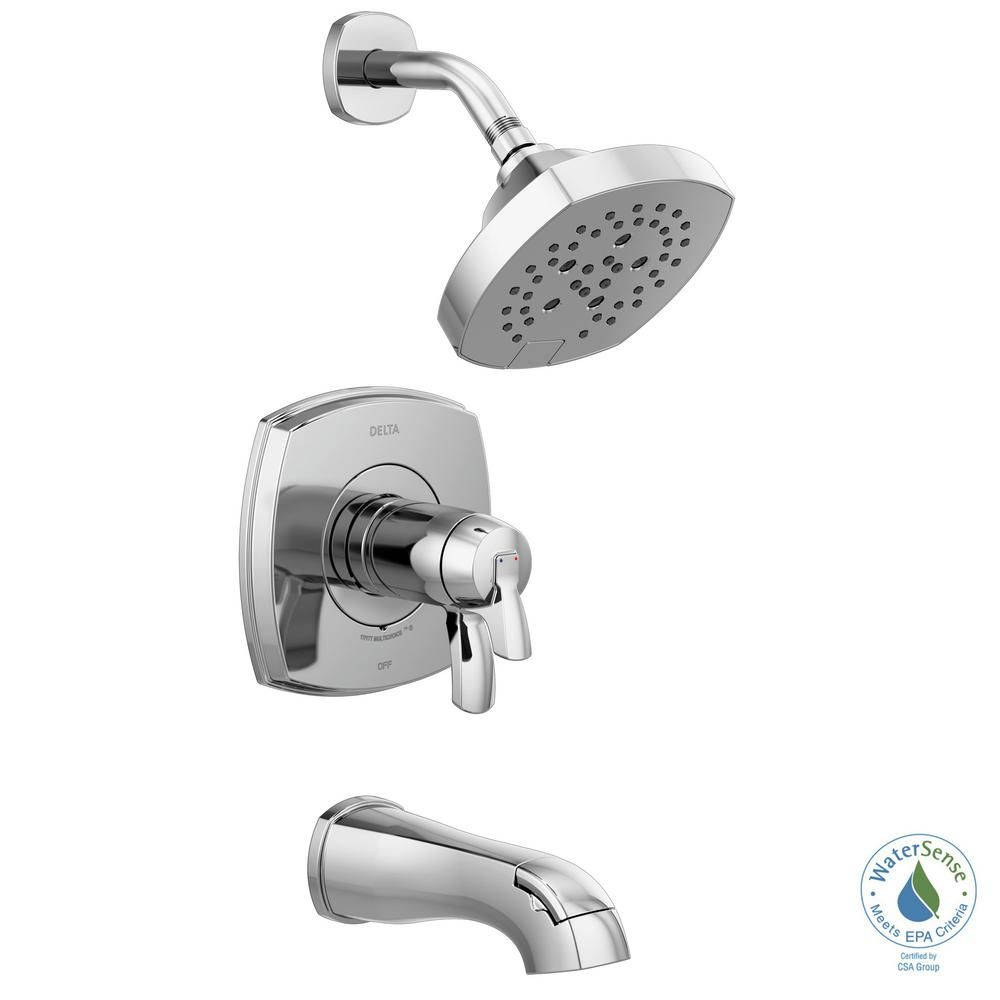 Delta Stryke Tempassure 1 Handle Wall Mount 5 Spray Tub And Shower