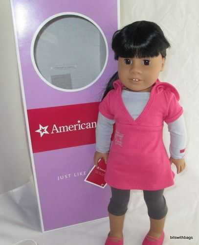 """AMERICAN GIRL Just Like You Doll Med Skin Brown eyes Black Hair NEW 18"""" doll  by tims3667"""
