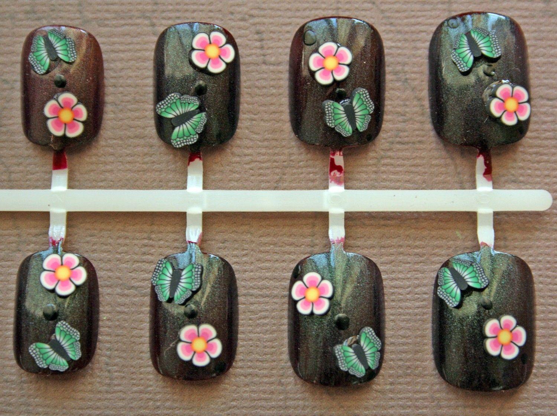 Japanese Nail Art Bohemian Butterfly by Nevertoomuchglitter | Nail ...
