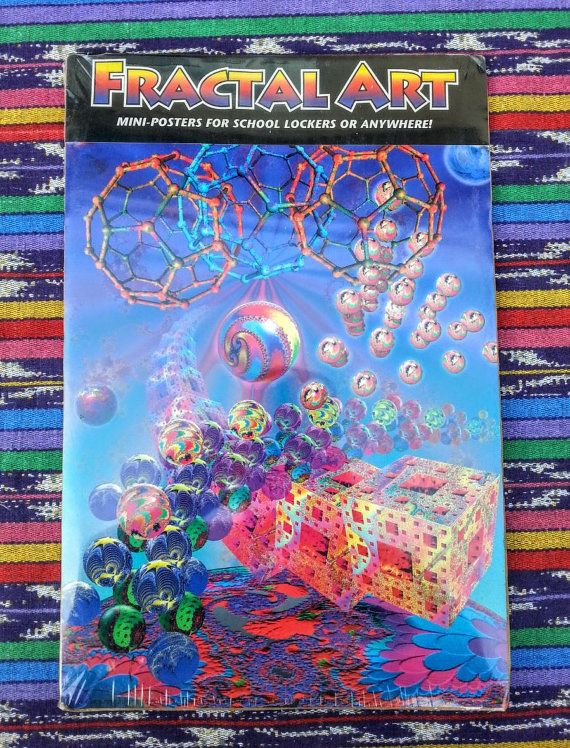Vintage Poster of Fractals Locker Sized NOS by justcollectingdust