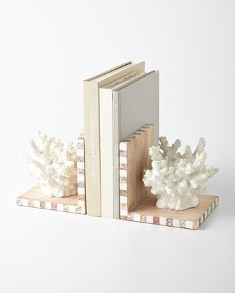Coral Bookends Coral Home Decor Decor Handmade Home Decor