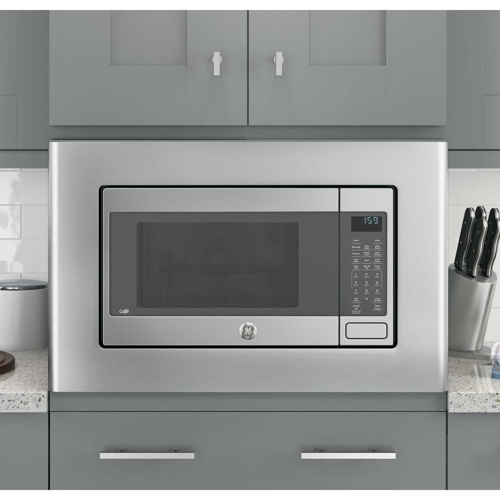 Ge Microwave Optional 27 In Built In Trim Kit In Stainless Steel Stainless Steel Microwave Built In Microwave Ge Microwave