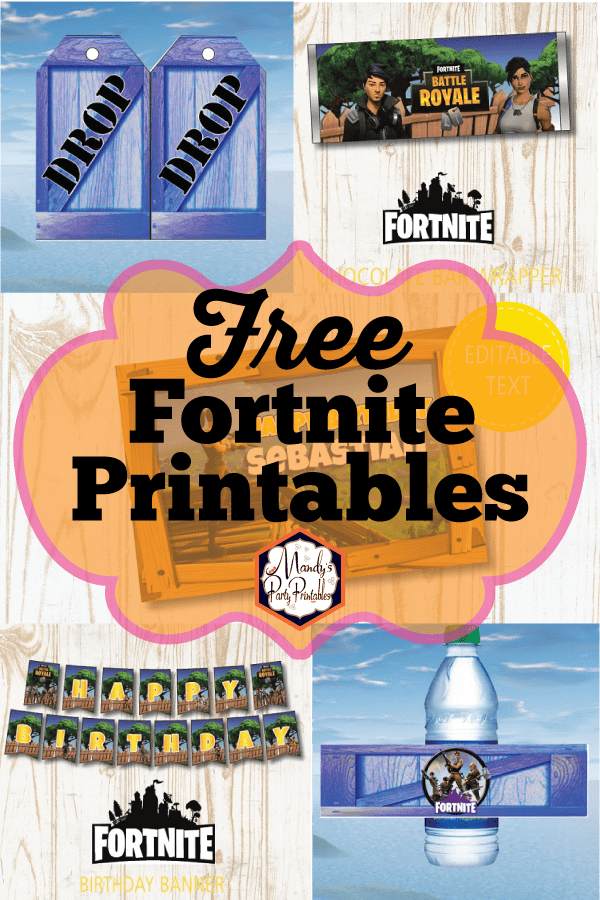 Free Fortnite Party Printables Fortnite Bday Party