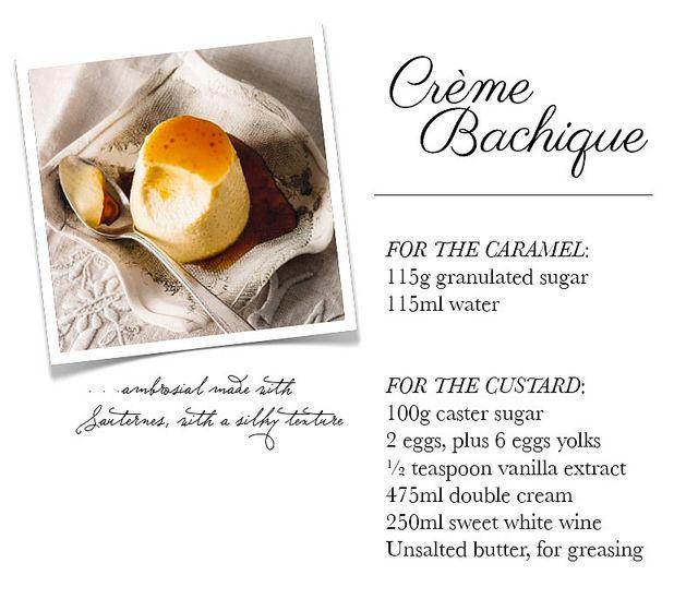 Recipe : Crème Bachique