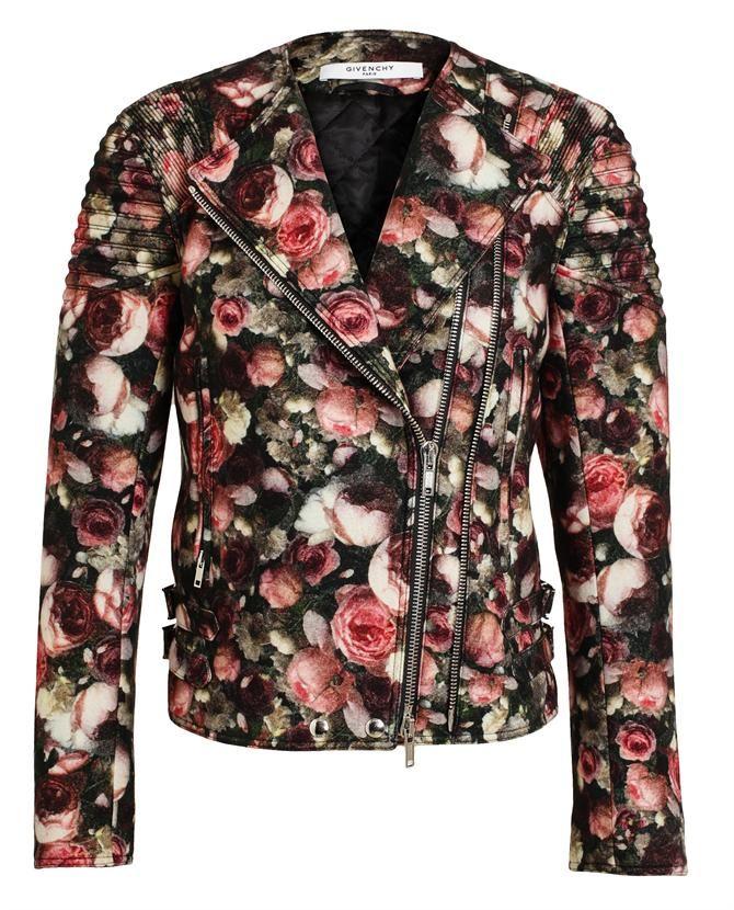 GIVENCHY | Floral Felt Wool Bomber Jacket