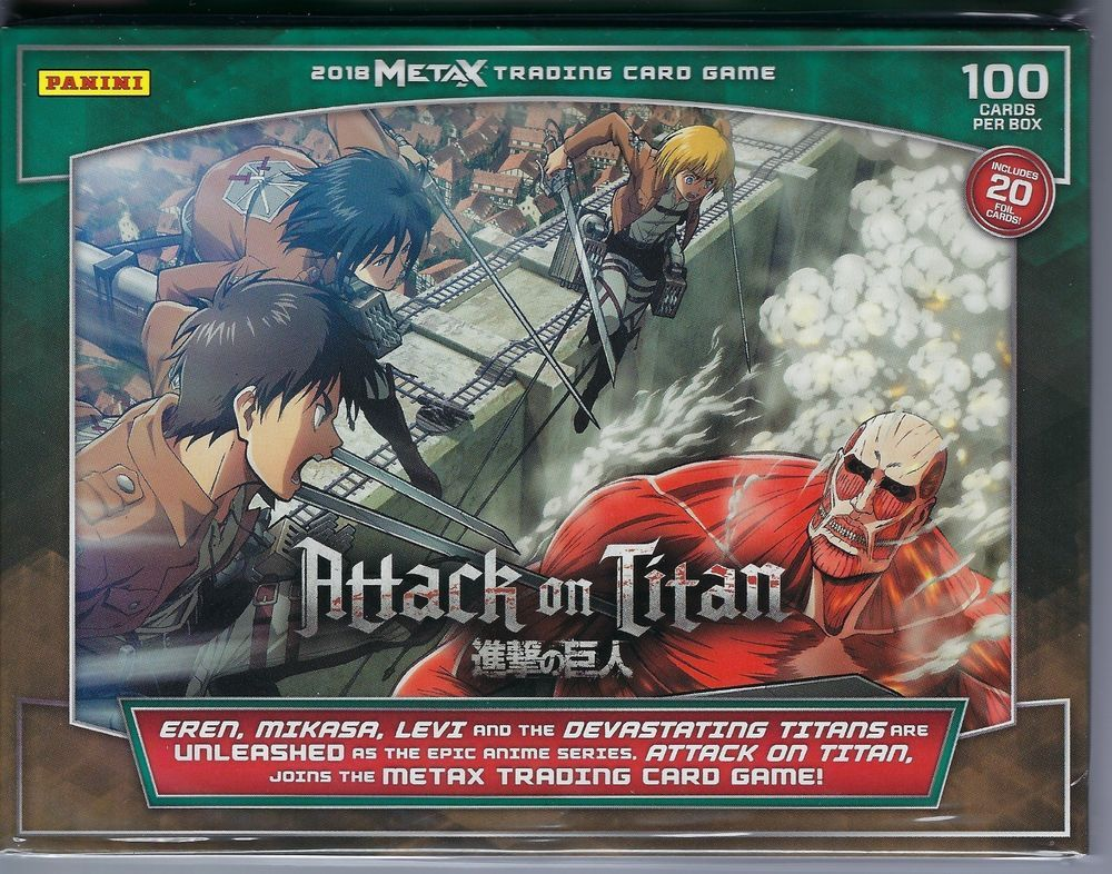 2018 Panini Meta X Attack On Titan Trading Card Game 100ct Tcg Starter Deck Fs Panini Attack On Titan Card Games Trading Cards Game