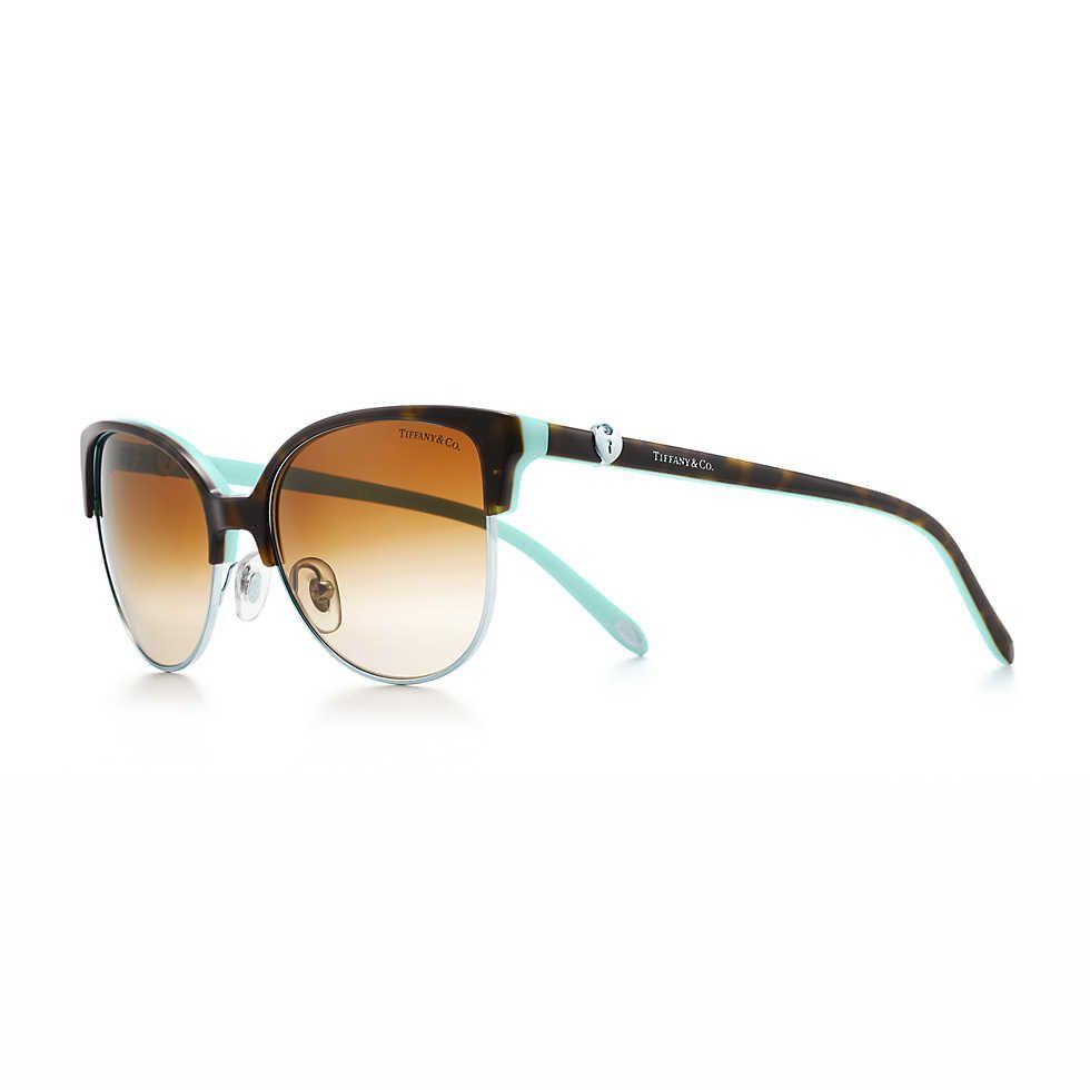 cde9a6ffc0 Tiffany Locks cat eye sunglasses in tortoise and Tiffany Blue acetate.