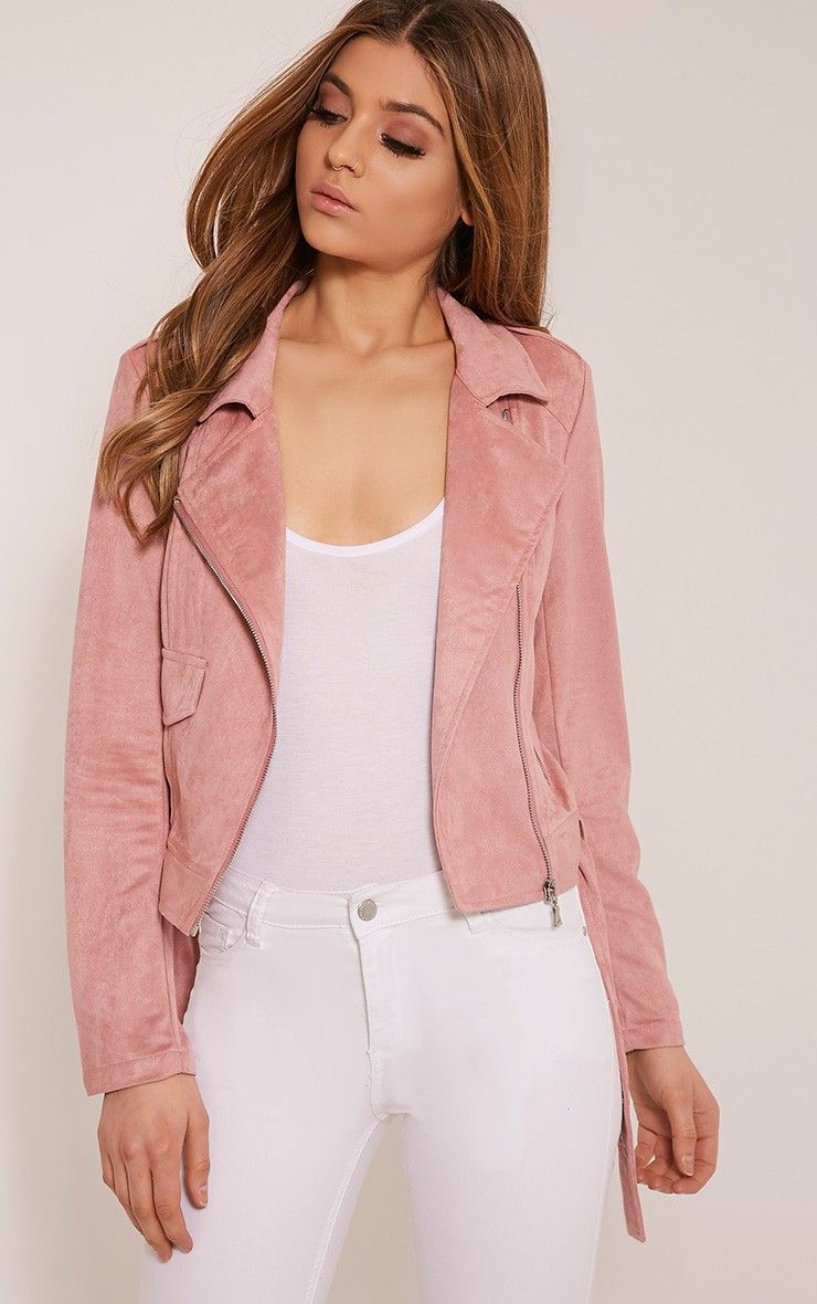 Niki Rose Faux Suede Biker Jacket Look Book Faux Suede