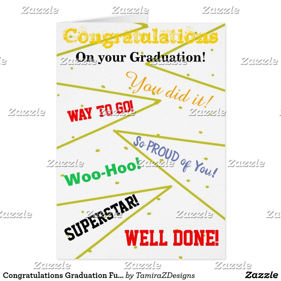 Congratulations Graduation Fun Greeting Card Graduation And Career