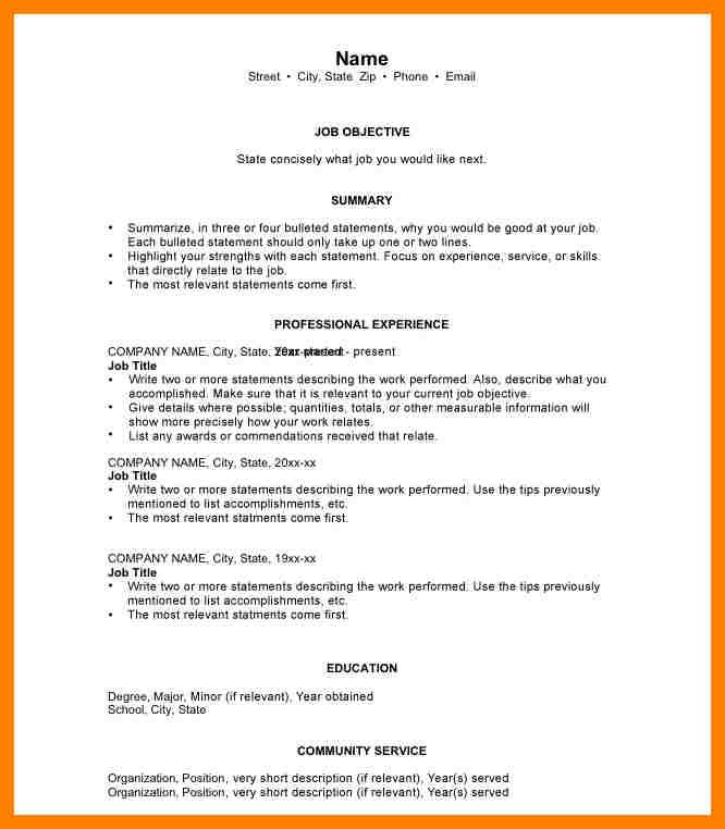 5+ chronological resume examples ats resuming Resume WS - chronological resume example
