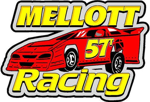 Custom Order Mellott Racing 2/4 decal by OutlawGraphicsTN on Etsy