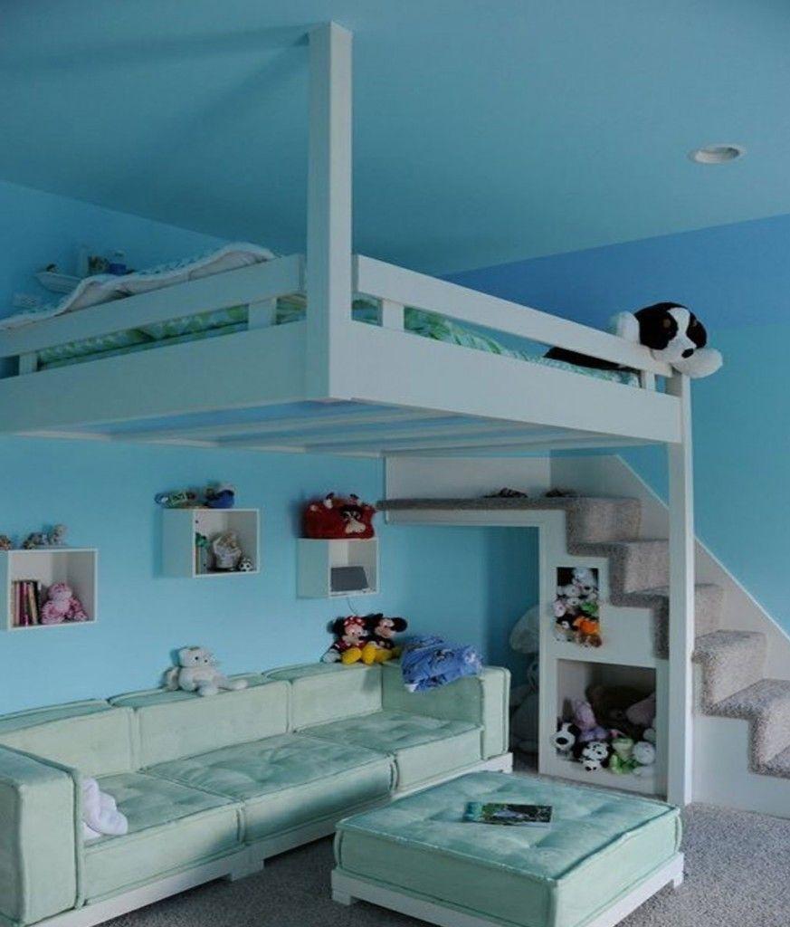 Loft bed ideas diy  Cute loft bed  Cute room ideas  Pinterest  Loft beds Loft and