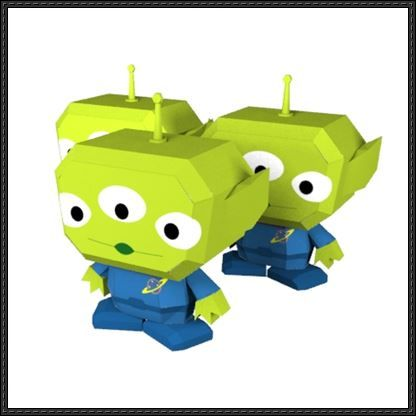 toy story alien free papercraft download