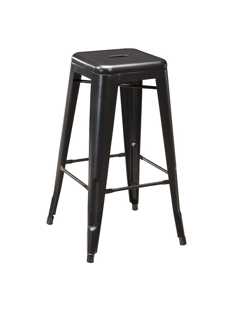 Ashley Furniture D542 030 Gray Metal Stackable Bar Height Stools