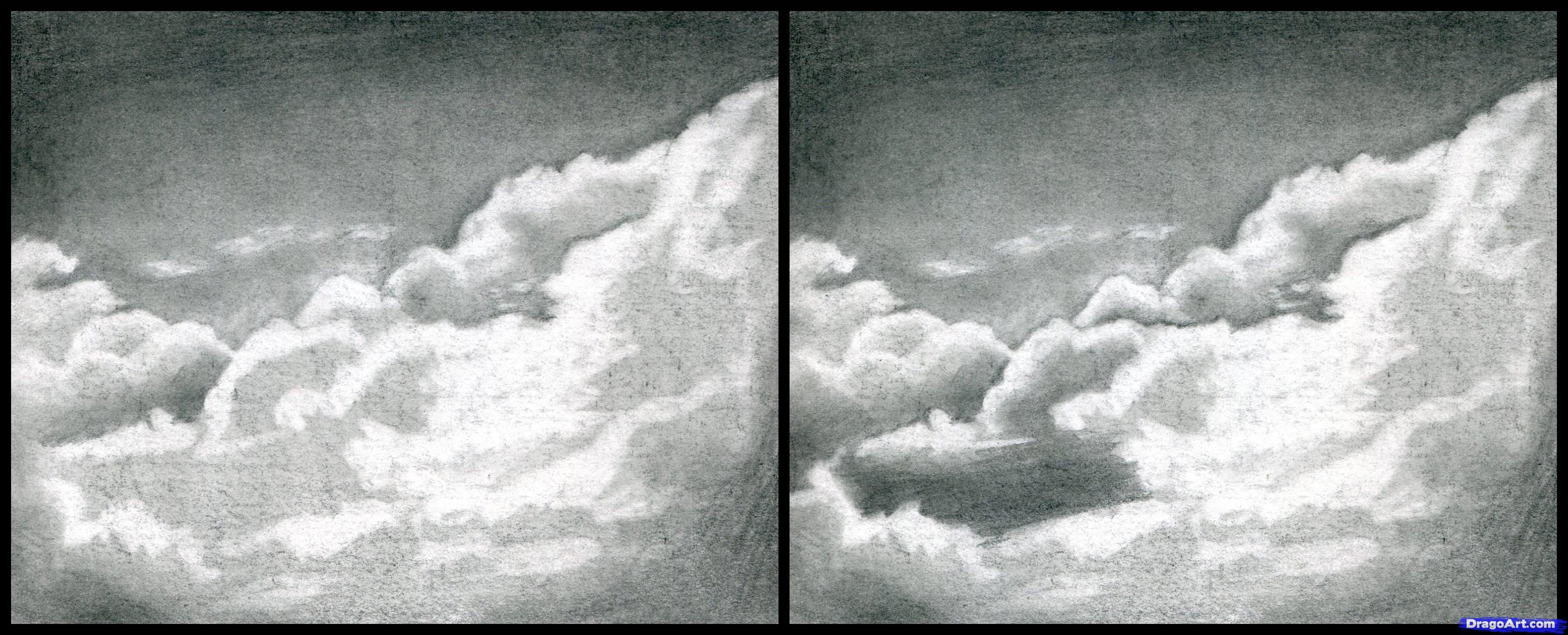 How to draw realistic clouds draw clouds step 9 art techniques in