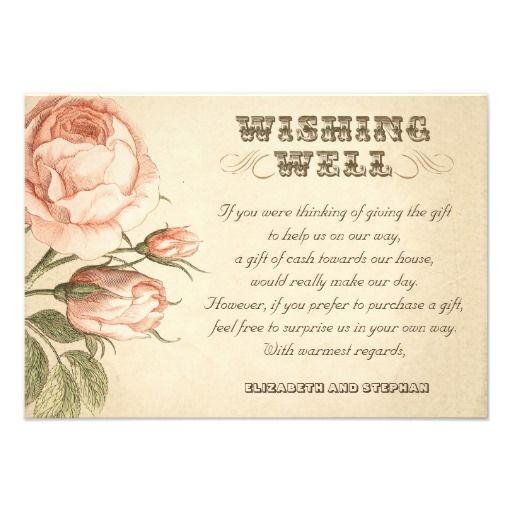 Ways To Save Money On Wedding Invitations: Wedding Wishing Well Vintage Cards