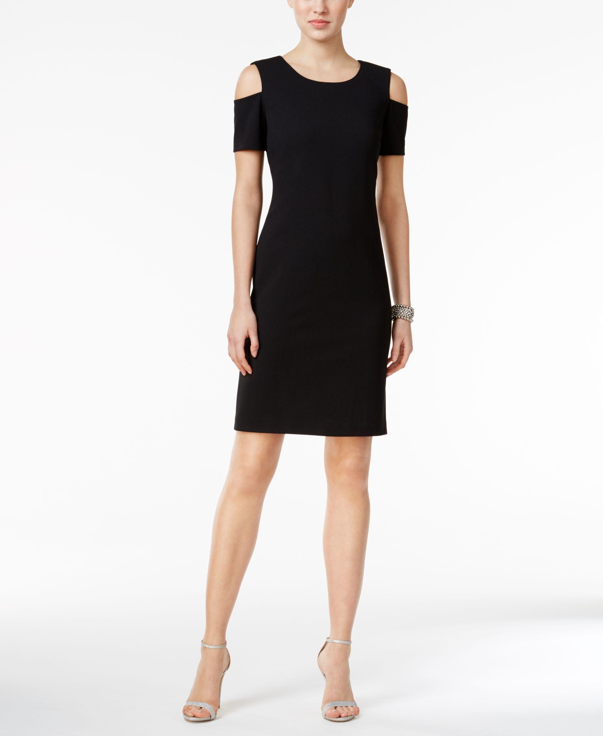 Tommy Hilfiger Cold Shoulder Sheath Dress Dresses