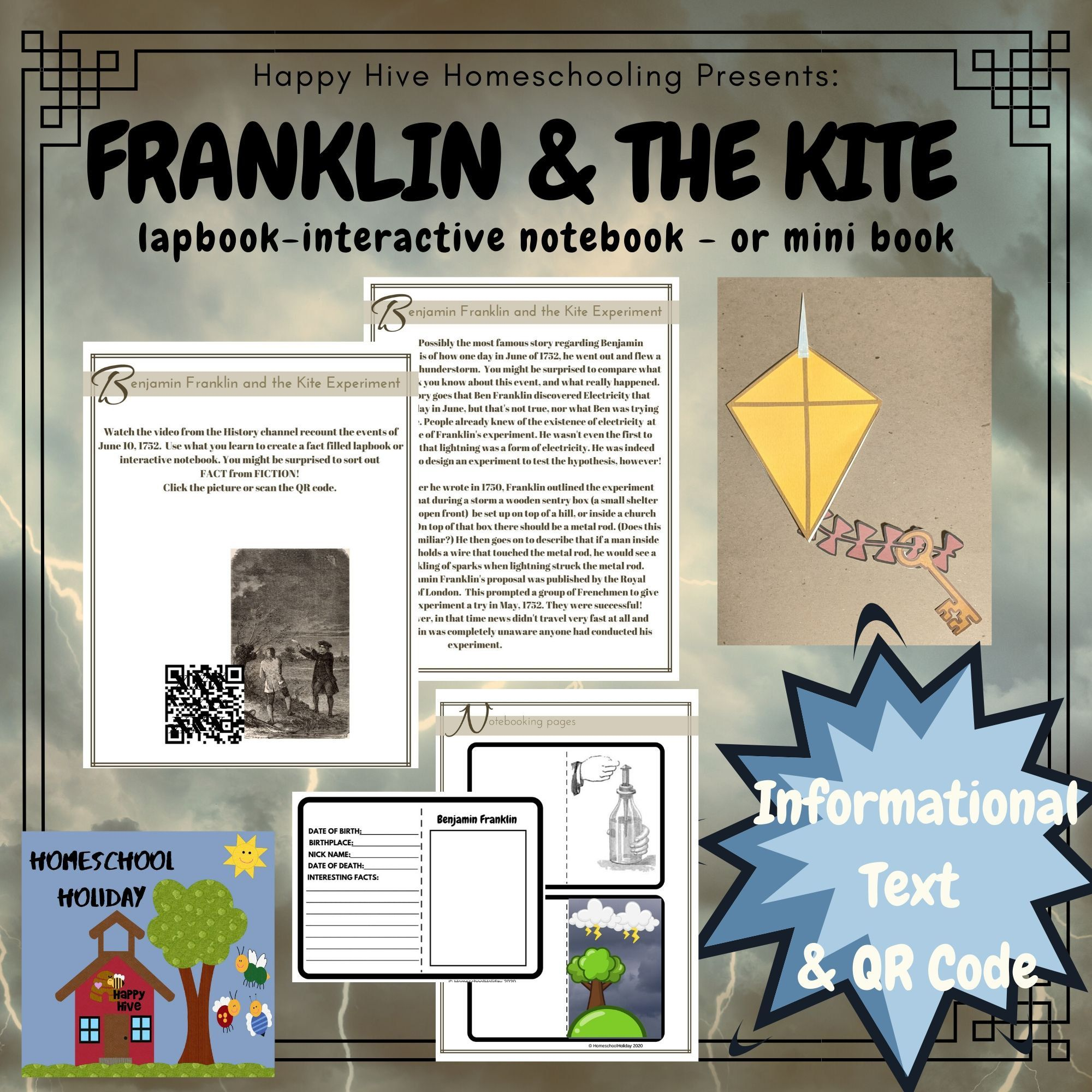Excited To Share The Latest Addition To My Etsy Shop Benjamin Franklin Lapbook Noteb Critical Thinking Activities Word Study Activities Interactive Notebooks [ 2000 x 2000 Pixel ]