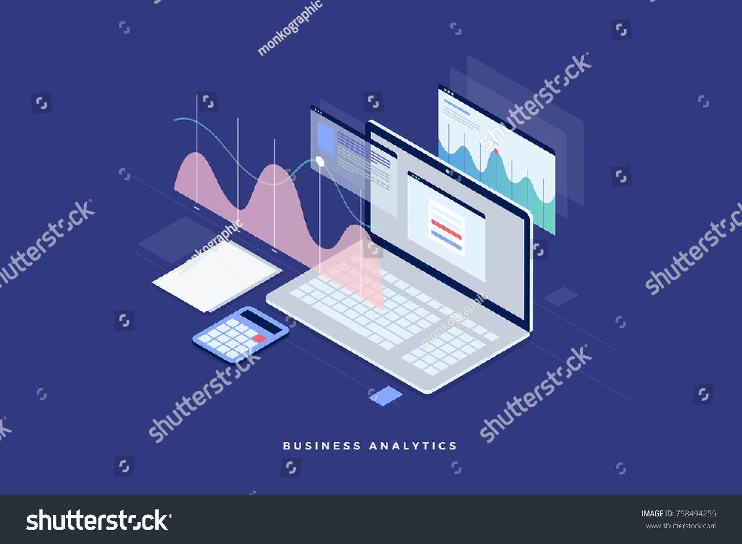 Concept Business Strategy Analysis Data And Investment Business