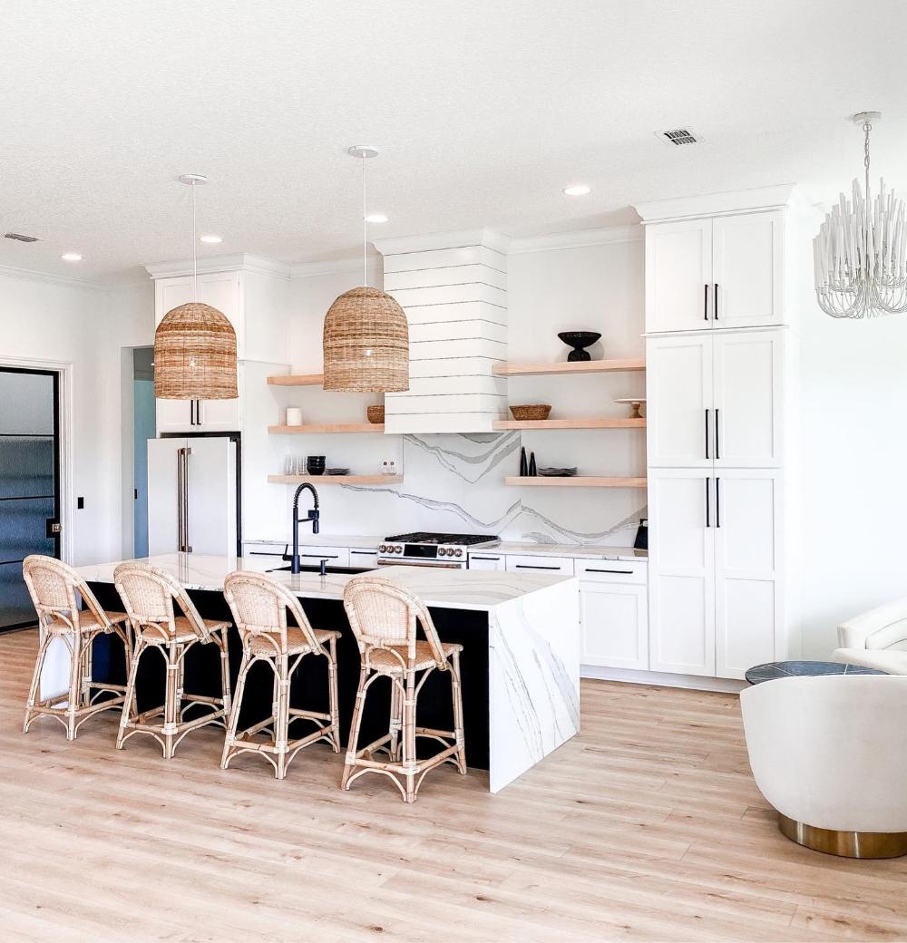 Sunwashed Riviera Counter Stool In 2020 White Modern Kitchen Condo Kitchen Scandinavian Kitchen