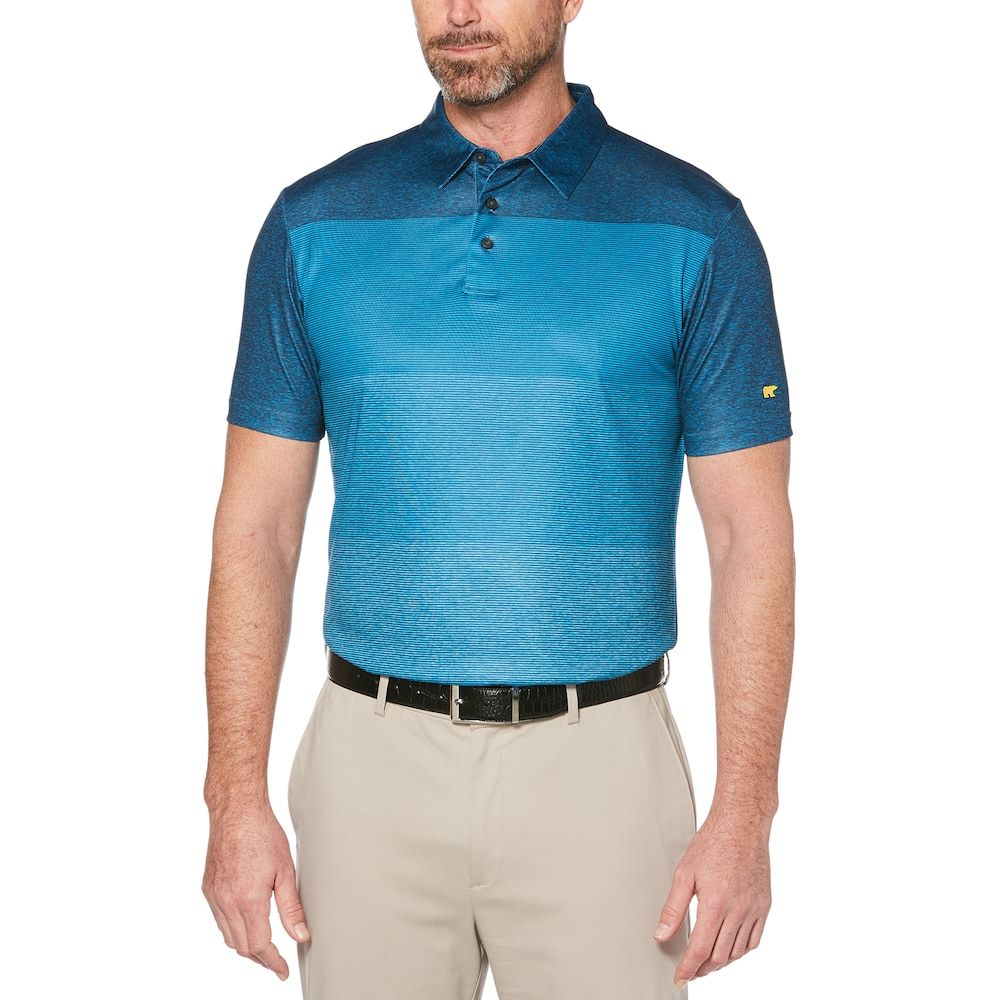 3ad3344ba Men s Jack Nicklaus Regular-Fit StayDri Faded-Stripe Performance Golf Polo