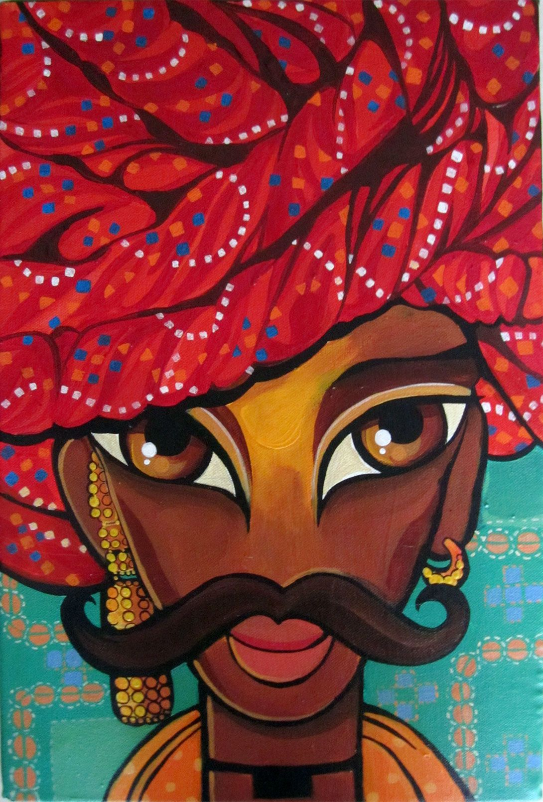 Rajasthani Man 2013 Niloufer Wadia Indian Art Indian Art Paintings Rajasthani Art Indian Art