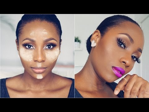 natural looking highlight and contour updated routine