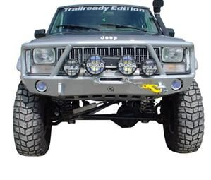 Grille Guard Front Bumper By Trail Ready For Jeep 5000g Jeep Cherokee Jeep Cherokee Xj Jeep Bumpers