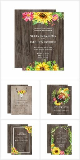 Sunflowers On A Wood Background With Pops Of Pink Flowers And
