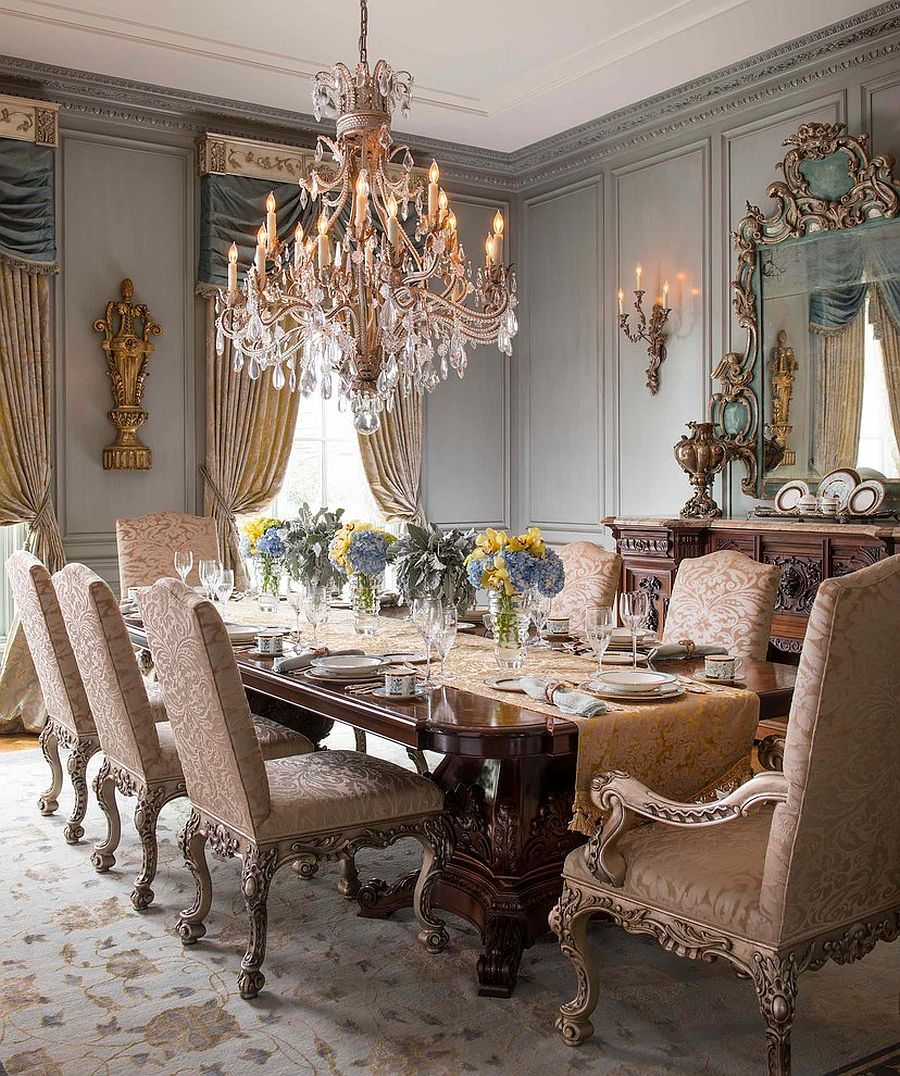 Elegant Tableware For Dining Rooms With Style: 15 Majestic Victorian Dining Rooms That Radiate Color And