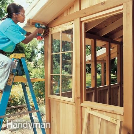 Tips for building a storage shed sash windows storage for Best wood window brands