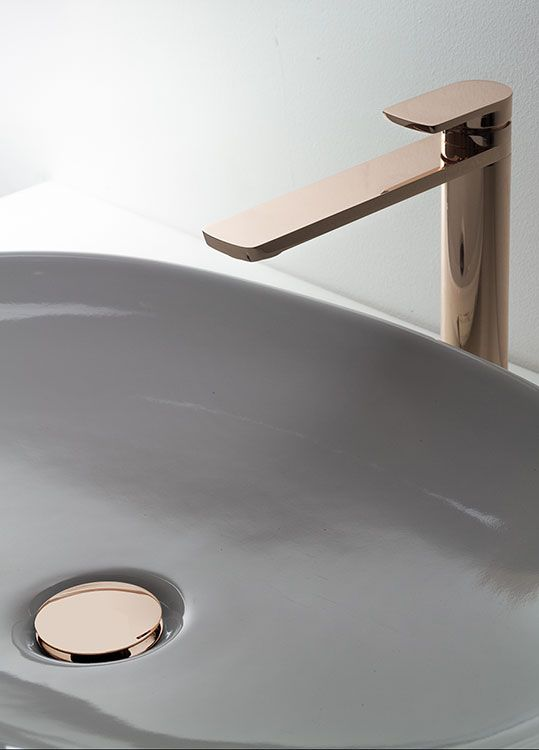 Kara Rose Gold Tall Basin Tap 42cc Gold Bathroom Luxury Bathroom Black Faucet Bathroom