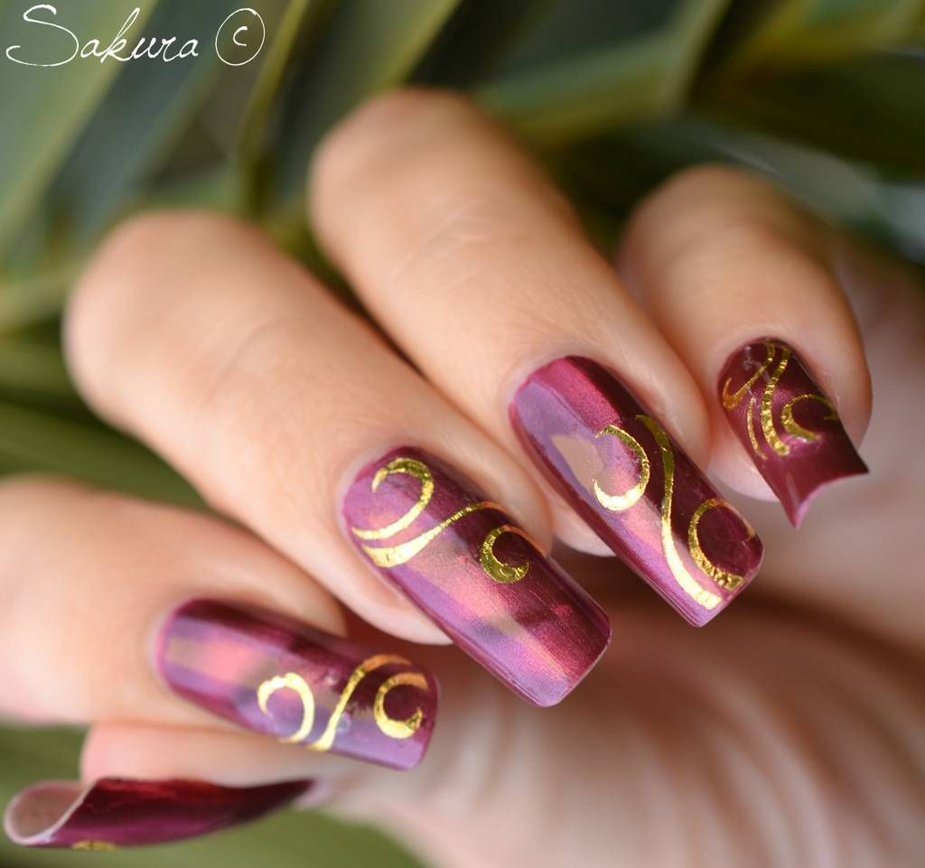 Spring Lines Nail Art Designs   ... -nail-designs-ideas- - Spring Lines Nail Art Designs -nail-designs-ideas-with-golden