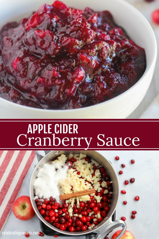 Apple Cider Cranberry Sauce #cranberrysauce