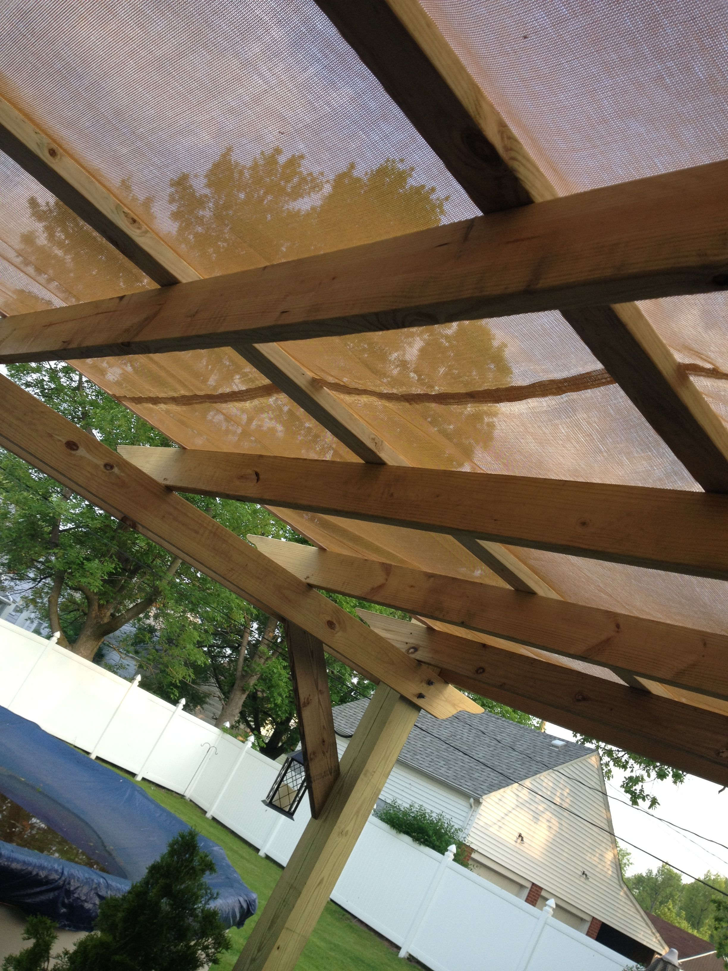 Pergola Canvas Top Custom Made From A Local Canvas And