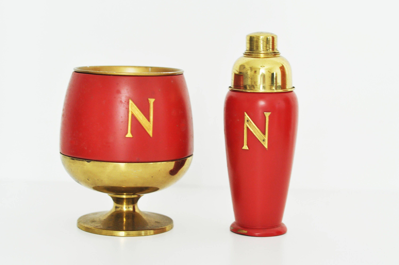 Macabo Aldo Tura Napoleon Ice Bucket Shaker Brass 1960 Italian Design Fornasetti Set Bar Cocktail Di Littleold Su Etsy Perfume Bottles Vintage Perfume