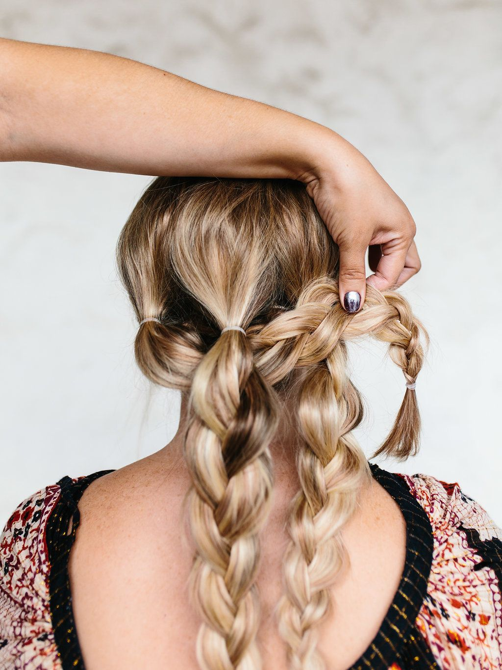 Easy Triple Braided Updo Tutorial > The Effortless Chic