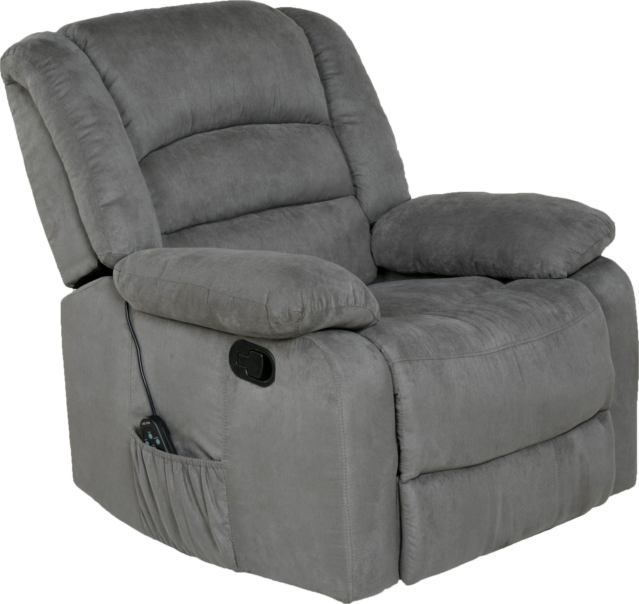 Relaxzen Massage Rocker Recliner With Heat And Usb Gray Microfiber Rocker Recliners Recliner Recliner Chair