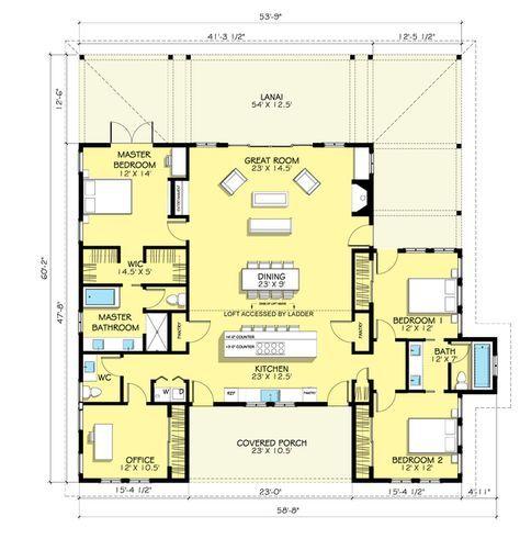 Open Floor Plan Farmhouse Design