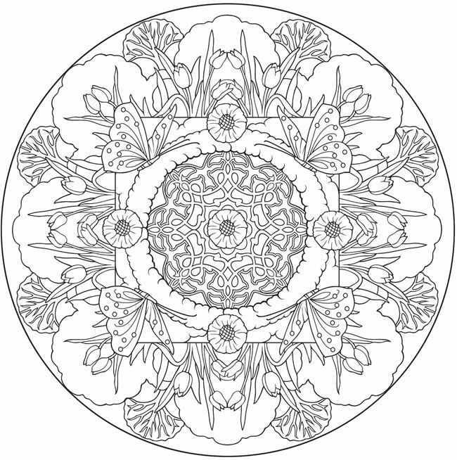 Butterfly Mandala to color from Nature Mandalas Coloring Book. | For ...