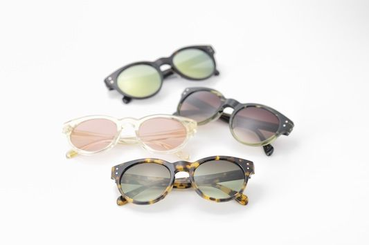 Preppy Parisian brand Maison Kitsuné's cool sunglasses collaboration with Oliver Peoples.