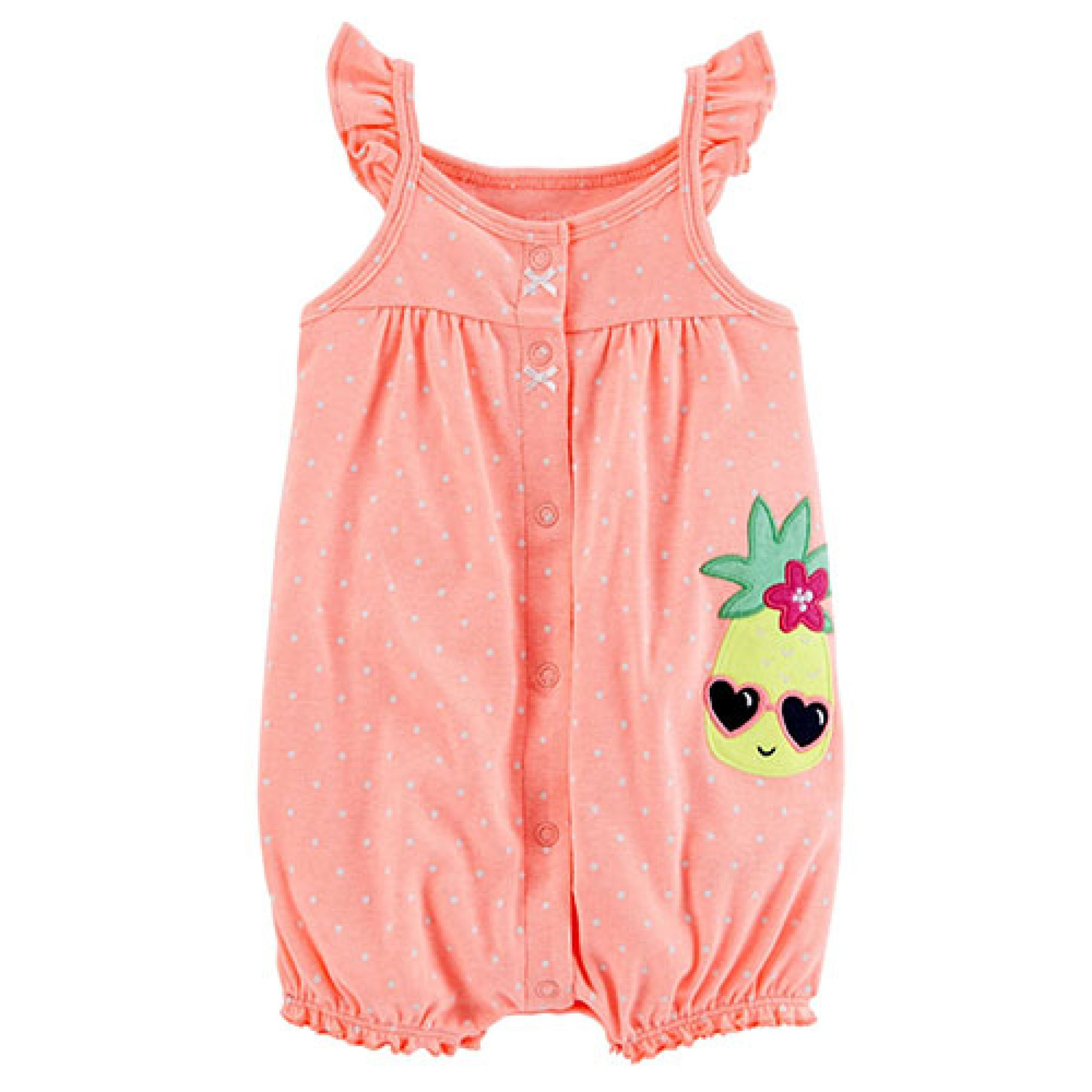 b9b10635a9a9 Baby Girl (0-24M) Carter s® Pineapple Snap Up Romper