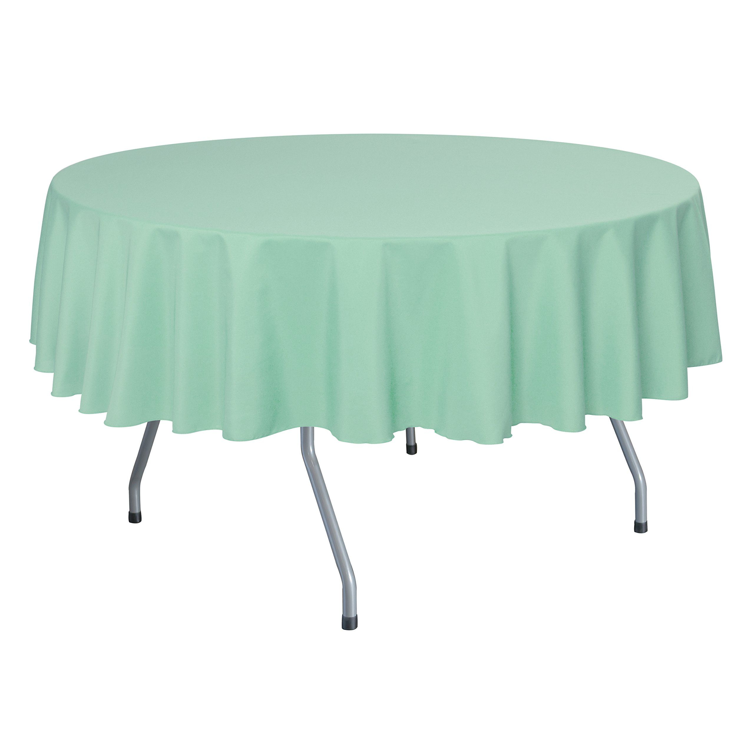 Ultimate Textile (2 Pack) 84 Inch Round Polyester Linen Tablecloth   For  Wedding