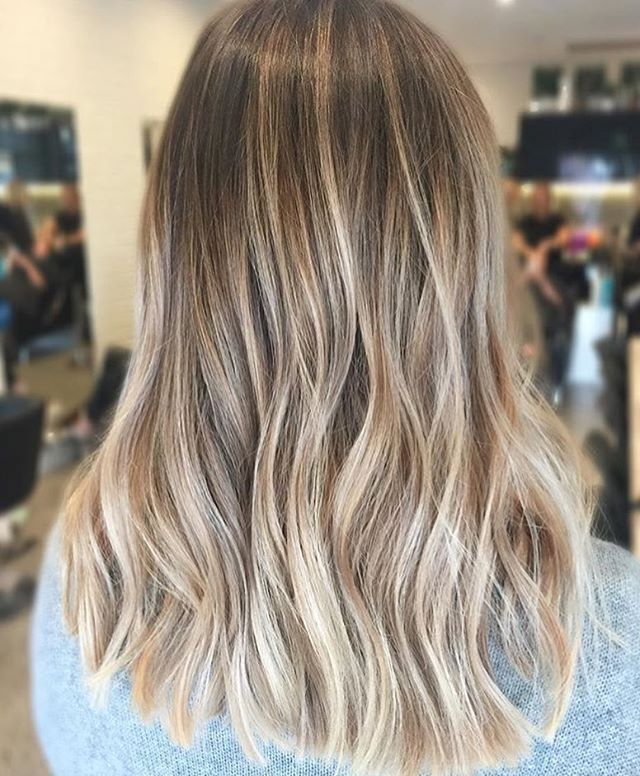 Balayage Blonde Lowlights. Color by @hairbykaitlinjade hair