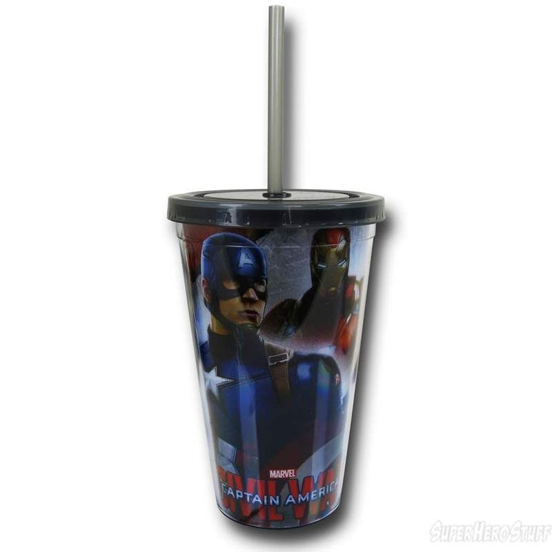bdf8d56887 Captain America Civil War Characters 18oz Acrylic Cold Cup | Marvel ...