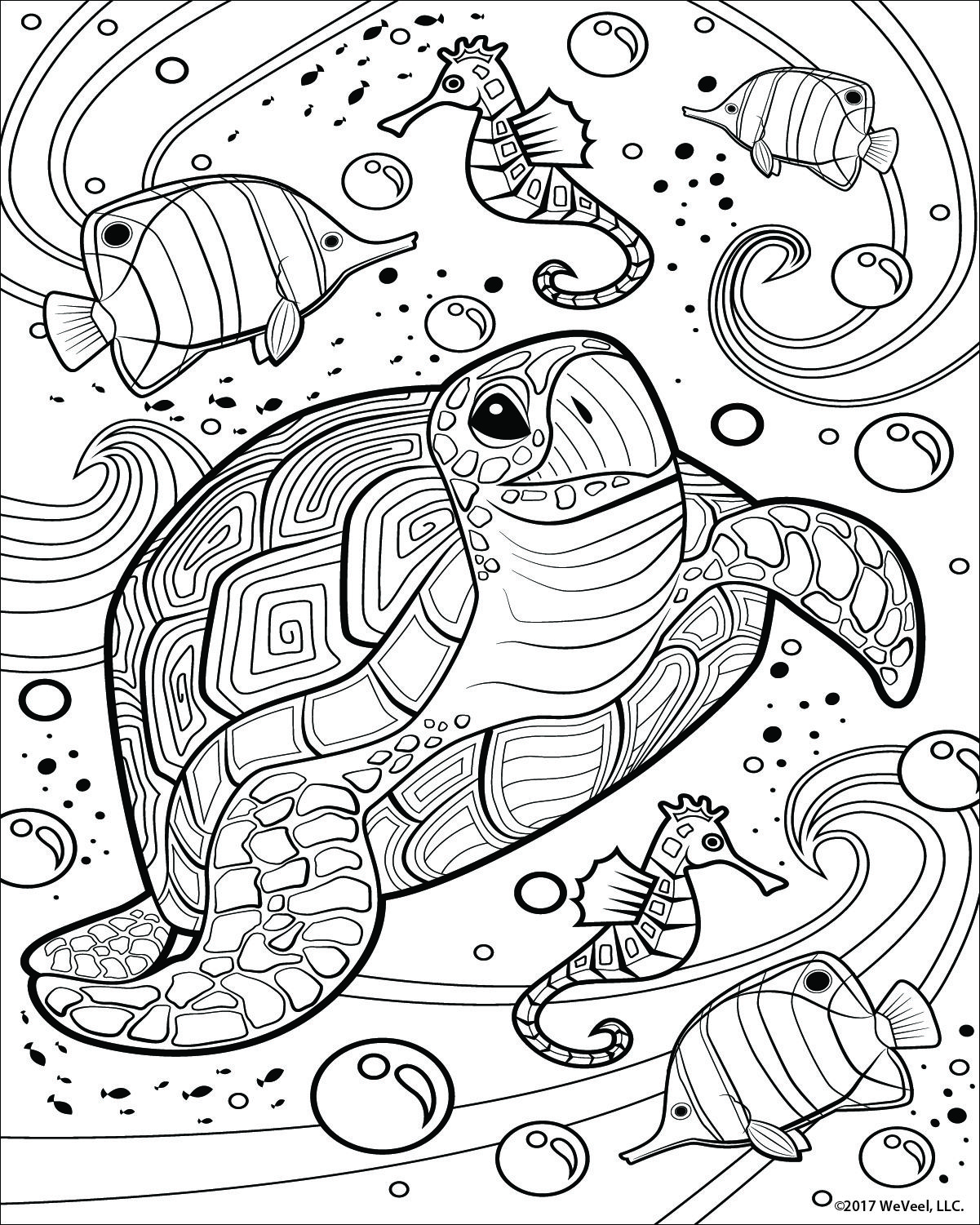 Coloring Pages For Kids Sea Life Mermaid Coloring Pages