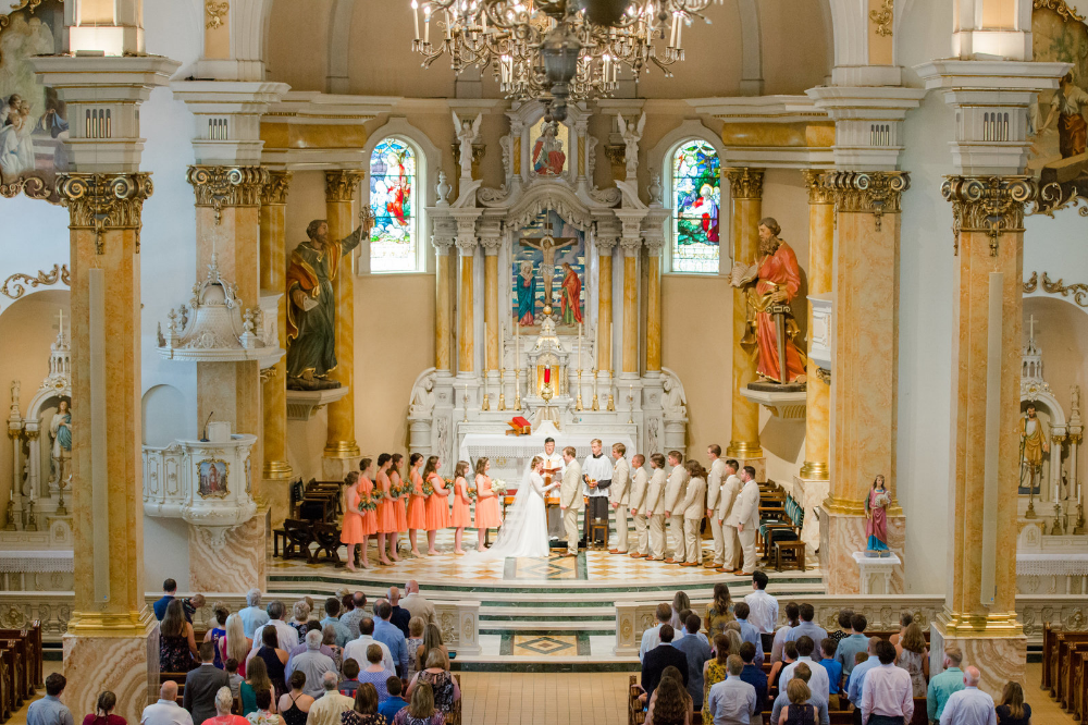 Catholic wedding vows at the Church of St. Agnes in St