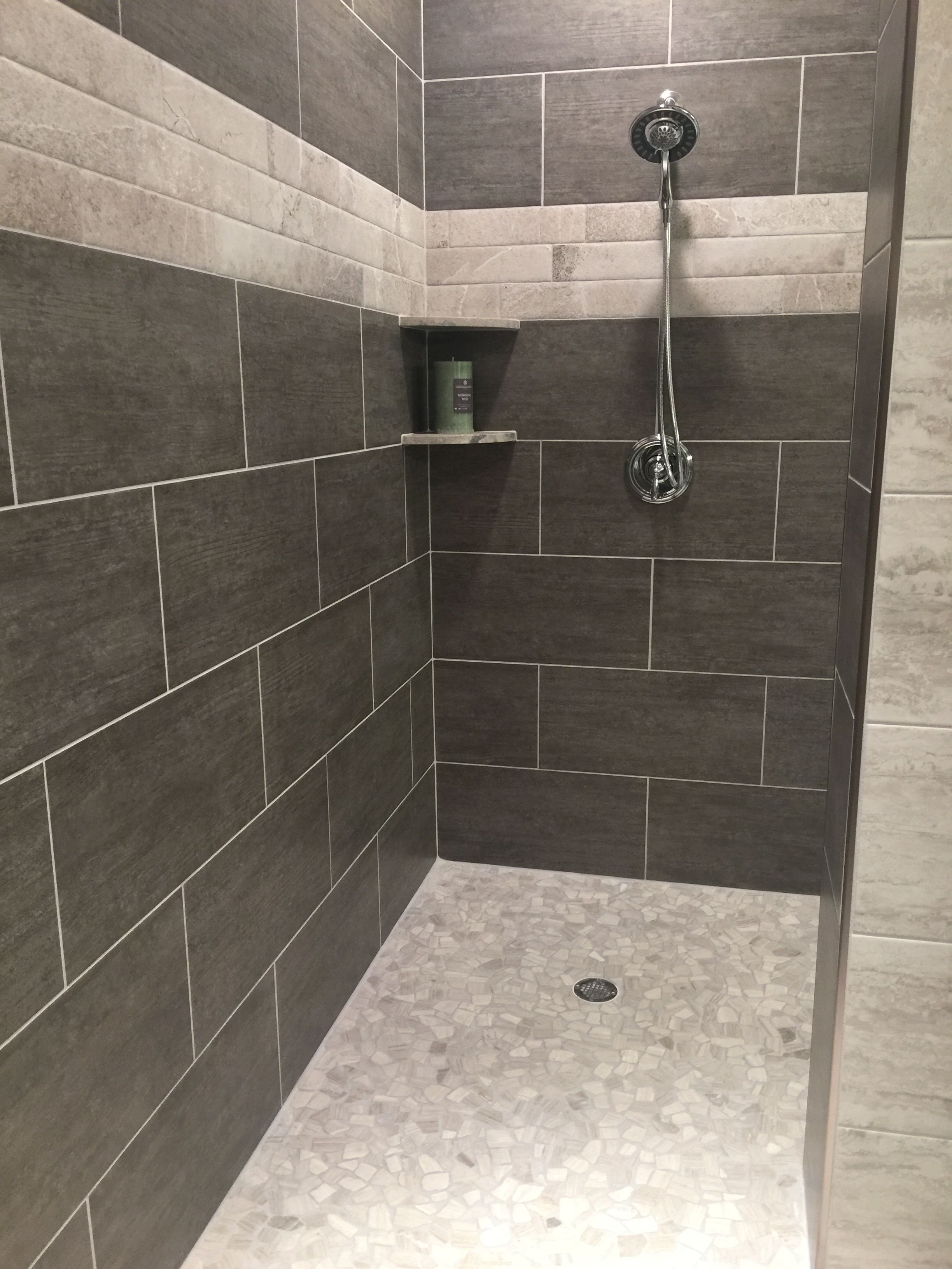 Love This Shower Style Color Tile Is A Little Dark Shower Style