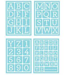 Martha Stewart Crafts™ Glass Adhesive Stencils   Typewriter