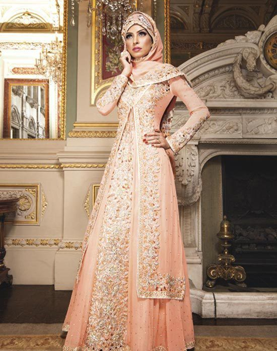 c0196bcfdbd0 orange-bridesmaid-dresses-4 | Moroccan wedding | Muslim wedding ...